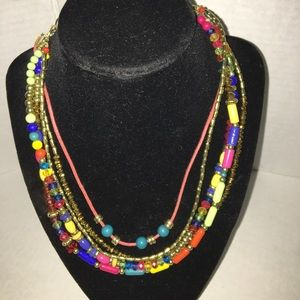 """20"""" Necklace w Extender Multicolor Tiered New"""